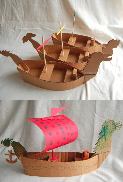 ... Make a DIY Pirate Ship | Cardboard pirate ships, Pirate ...