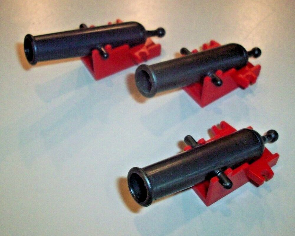NEW Lego Shooting Cannon w RED BASE  Pirate Minifig Weapon
