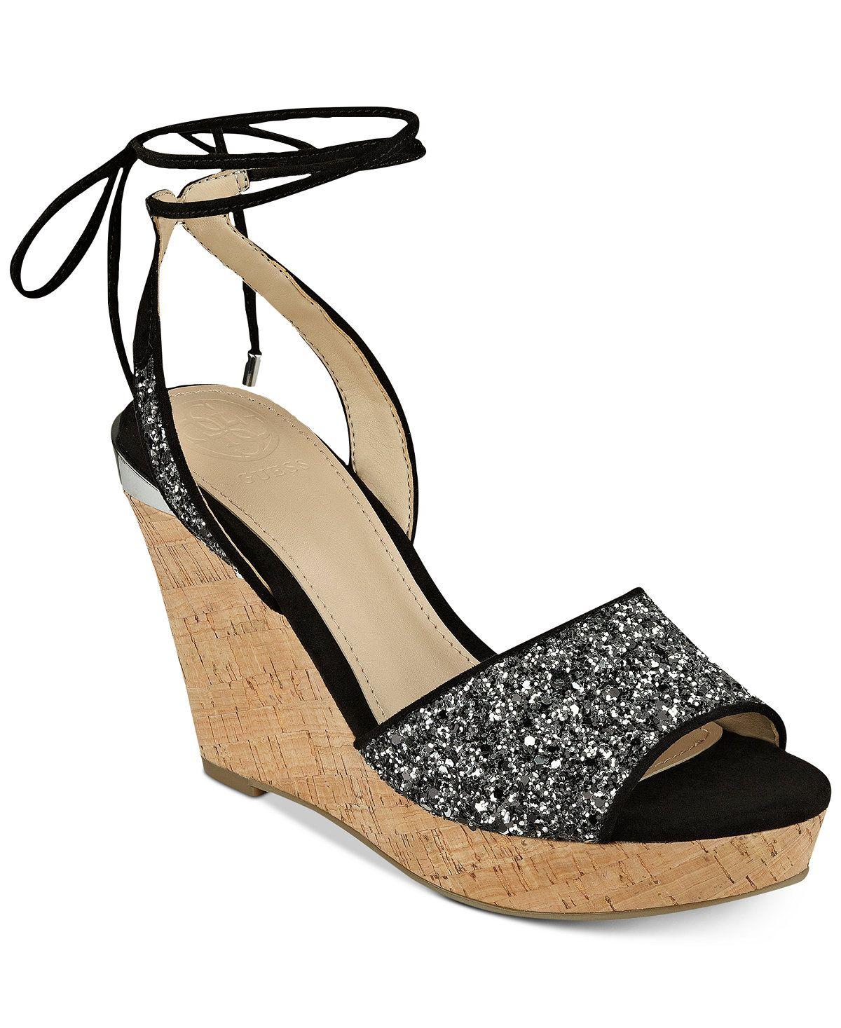 GUESS Women's Edinna Wedge Sandals - Sandals - Shoes - Macy's
