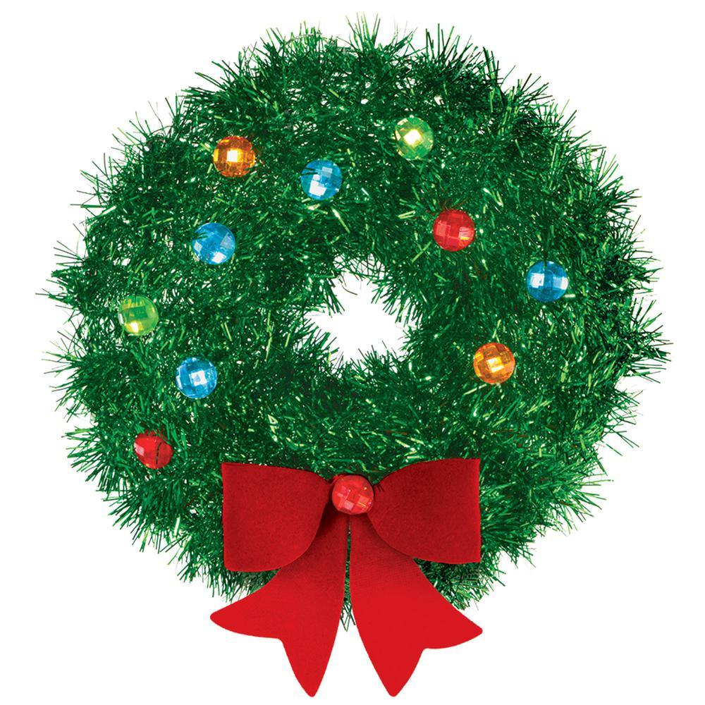 Amscan 6 5 In X 6 5 In Christmas Mini Tinsel Wreath 5 Pack 241914 Artificial Christmas Wreaths Christmas Decorations Wreaths Christmas Wreaths