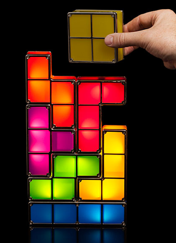 Tetris Stackable Led Desk Lamp This Would Make Him The Coolest Geek In His Office Sponsored Video Game Decor Geeky Gift Led Desk Lamp