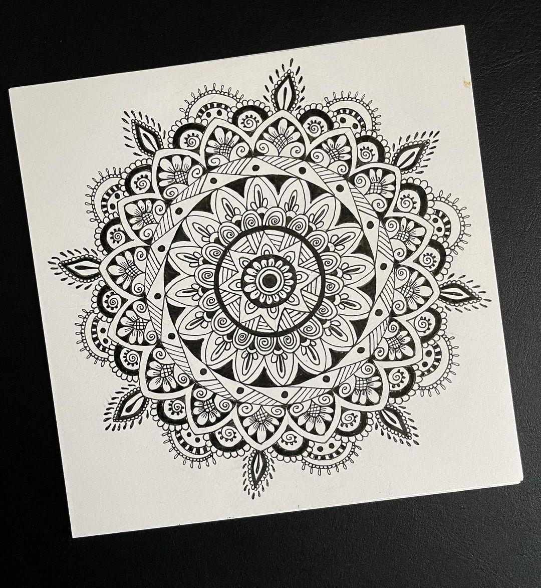 Anarghya On Instagram Mandala First Mandala Design I Tried It S So Calming Like Meditation Aa68 In 2021 Mandala Design Art Mandala Design Mandala Art Lesson