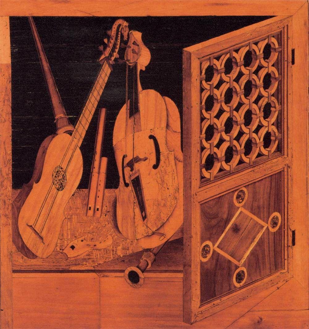 Mola Antonio And Paolo Musical Instruments C 1505 Wood Intarsia