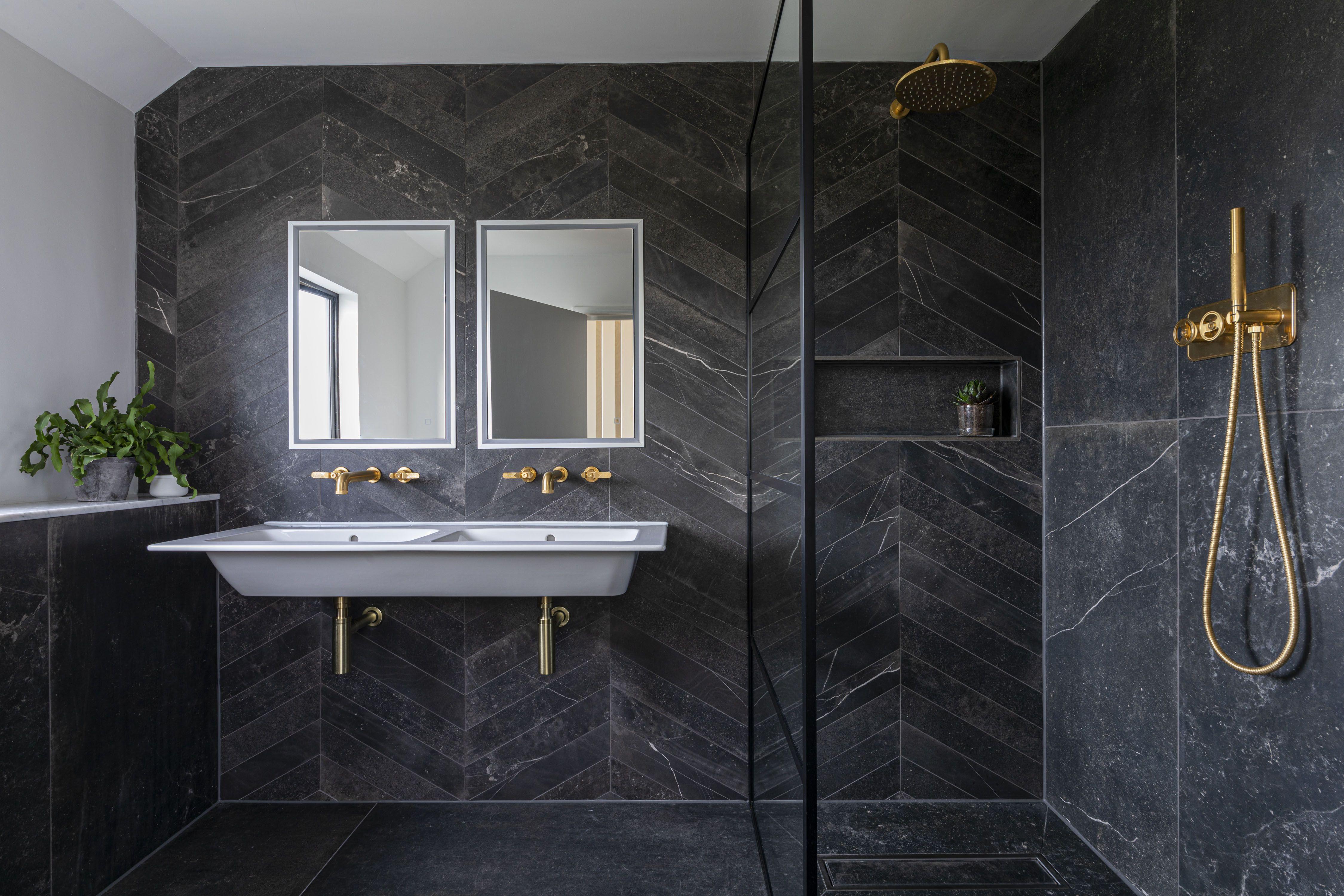 Fusion Black Matt Porcelain In 2020 Stone Tile Bathroom Matt Porcelain Tiles Mandarin Stone