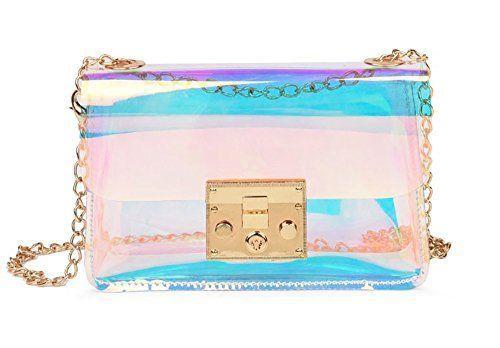 e27139302 Mini Hologram Clear Cross Body Purse Shoulder Bag Handbag for Women (Style  A) #crossbodypurses