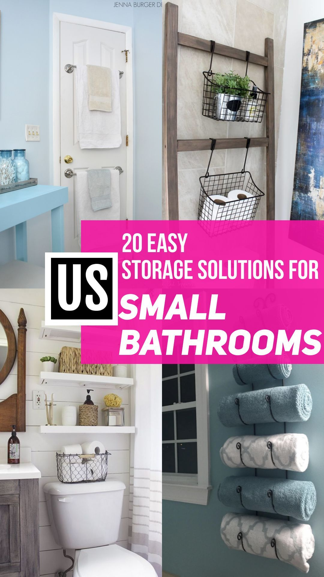20 Small Bathroom Storage Ideas That Will Crush Your Clutter Organize Declutter In 2020 Small Bathroom Storage Solutions Small Bathroom Storage Bathroom Storage Solutions