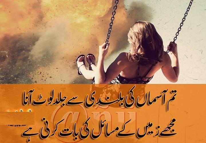 بلندی شاعری اردو