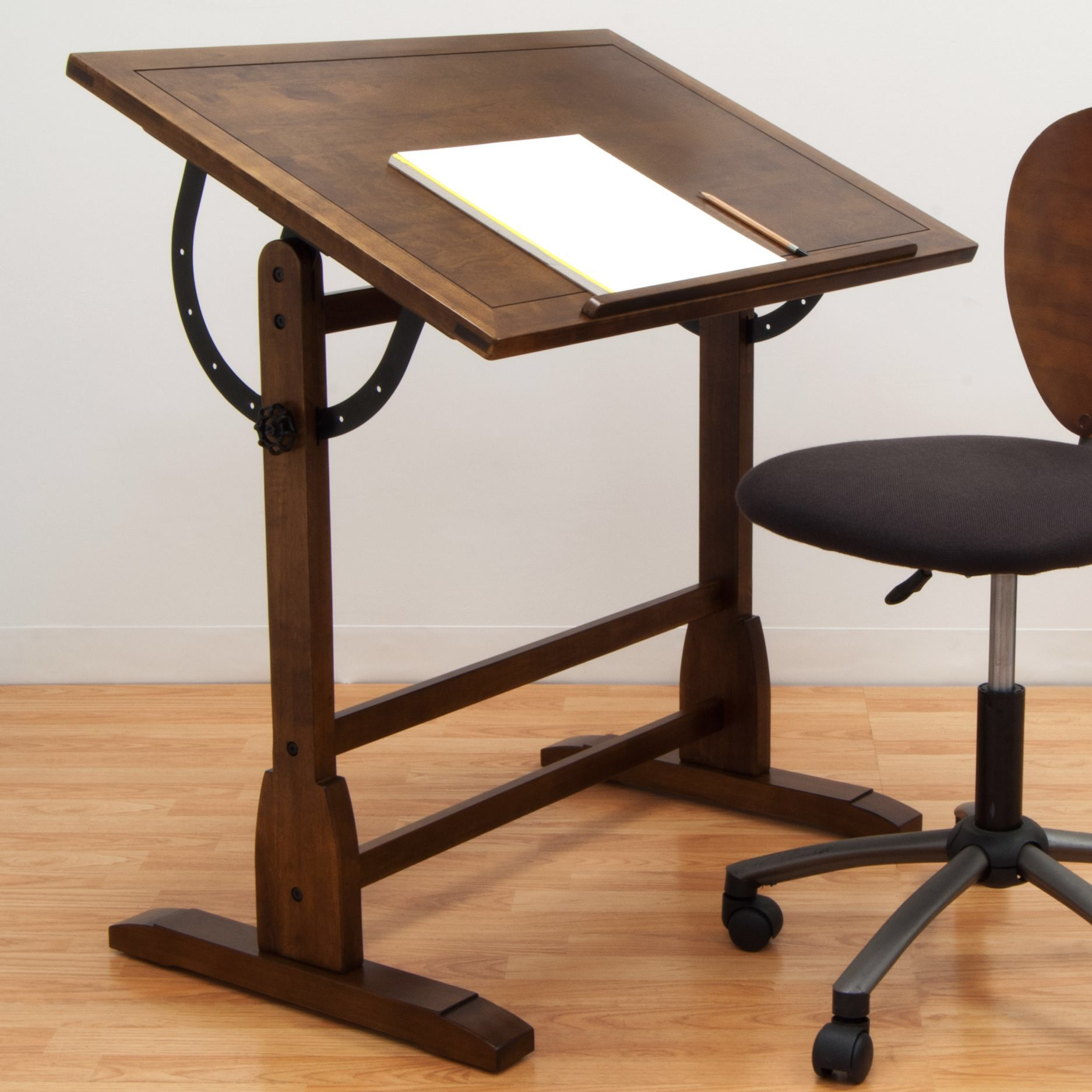 Solid Wood Drafting Table Wood Drafting Table Vintage Drafting Table Drafting Table