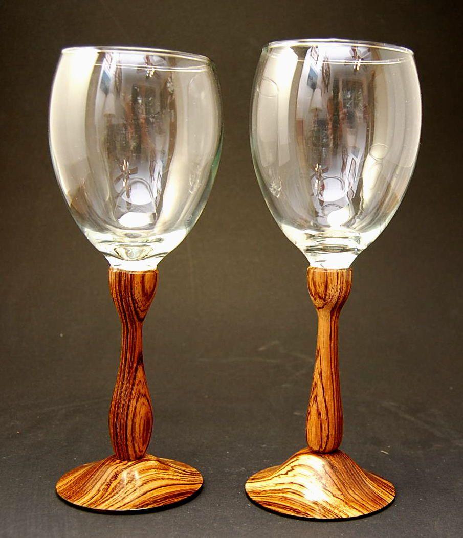 unique wine glasses list exotic zebra wood glass set goblets