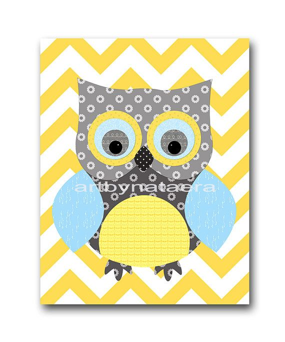 Owl Decor Owl Nursery Baby Boy Nursery Art Nursery by artbynataera ...