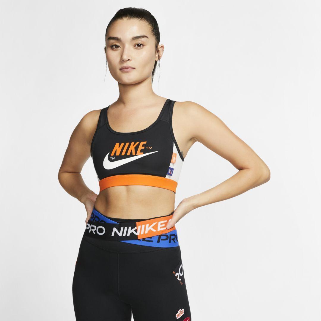 Nike Swoosh Sports Bra WhiteBlack