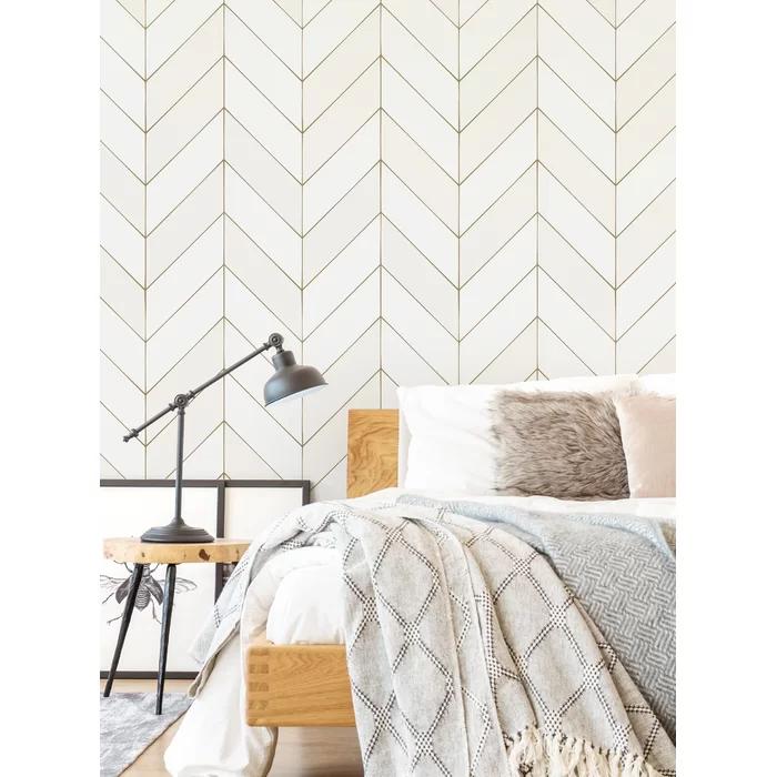 Andrickson Lines Texture Peel And Stick Wallpaper Panel In 2021 Master Bedroom Wallpaper Accent Wall Master Bedroom Wallpaper Wallpaper Bedroom