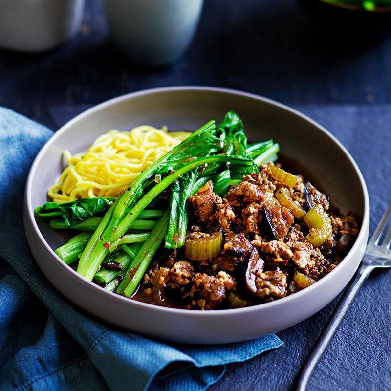 Spicy Pork Black Bean And Eggplant Hot Pot Recipe Mince