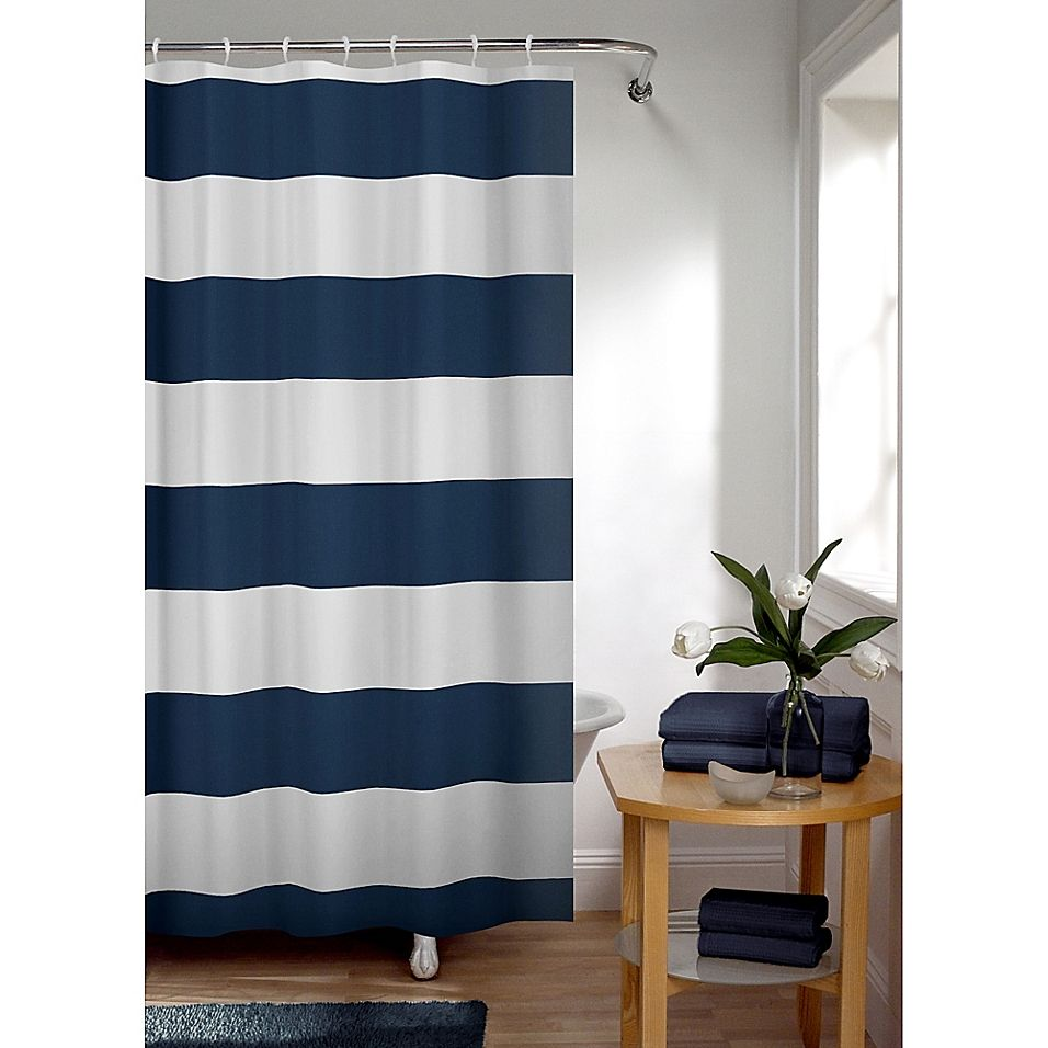 Smart Curtain Porter Stripe Shower Curtain In Indigo In 2019