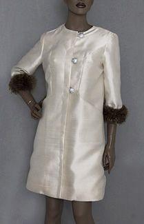 Maicolm Starr 1960's silk coat and dress ensamble