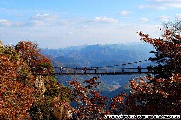 Mt. Daedun Suspension Bridge, 50 beautiful places to visit in Korea