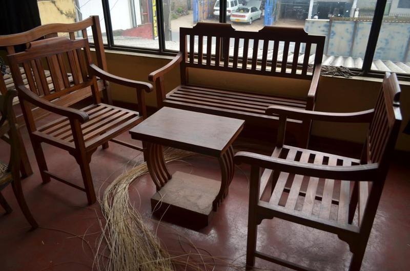 Modern Sofa Wooden Sofa Set