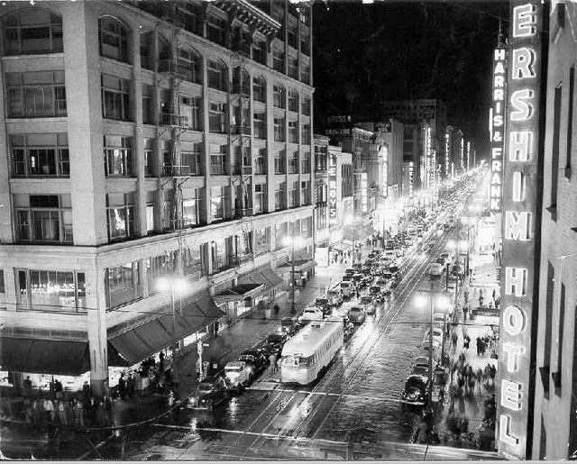 Broadway Theater District In Downtown Los Angeles C 1940s Los Angeles City Of Angels Artist Film