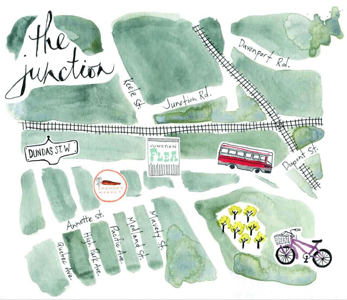 Map of the Junction, Toronto | Emilie Simpson