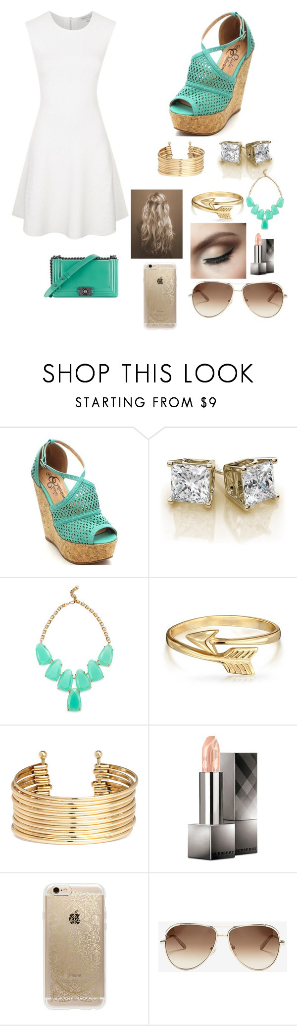 """""""Untitled #17"""" by gaellegermainlynn ❤ liked on Polyvore featuring Kendra Scott, Bling Jewelry, H&M, Burberry, Chanel, Rifle Paper Co, Chloé and Rebecca Minkoff"""