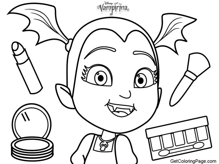 Vampirina Coloring Pages Makeup Tools Disney Coloring Pages Barbie Coloring Pages Coloring Pages To Print