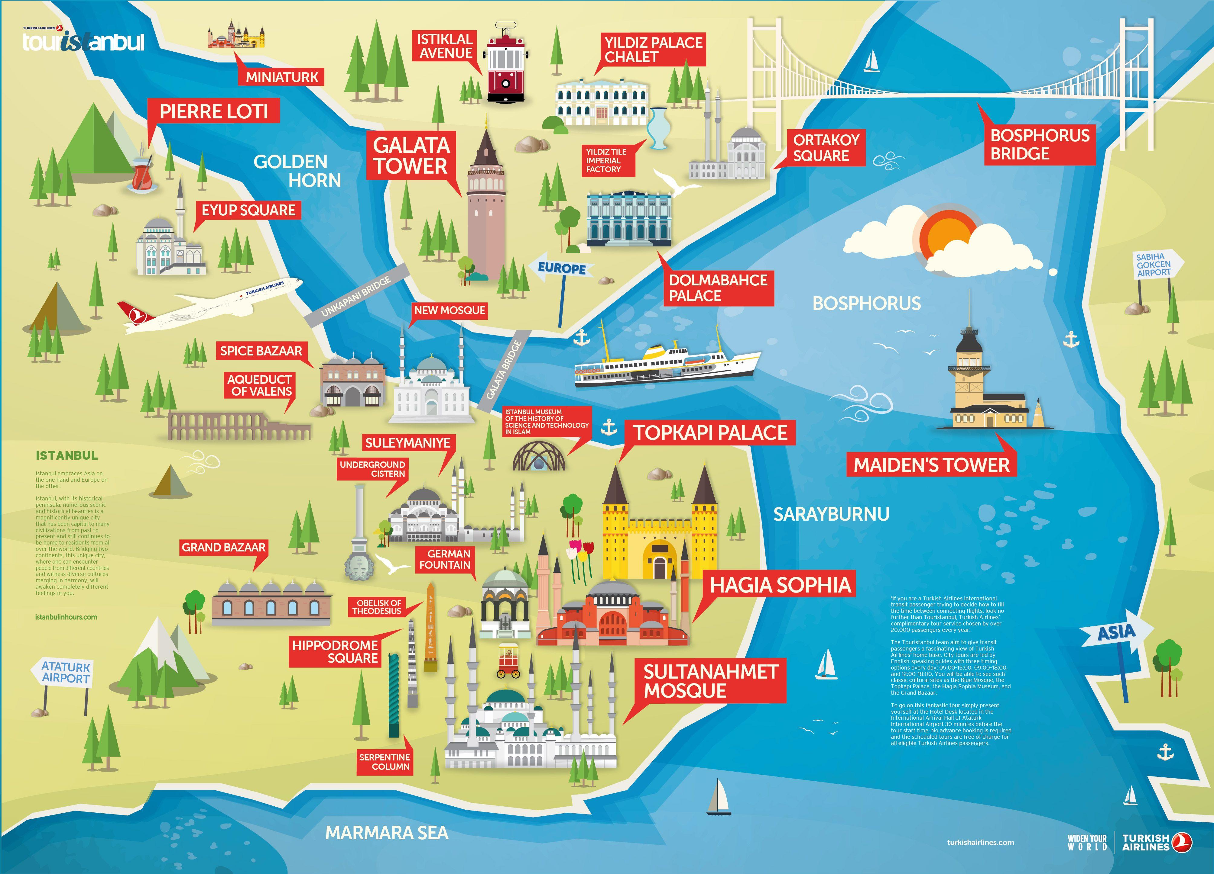 Best 25 Istanbul Tourist Map Ideas On Pinterest