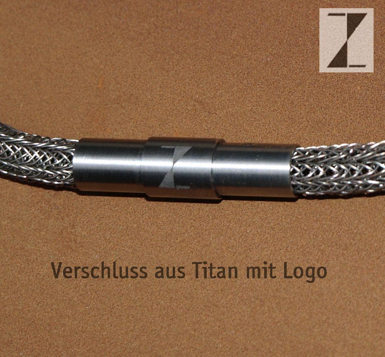Kette - Collier Draht verstrickt Titandraht-Verschluss Titan, www ...
