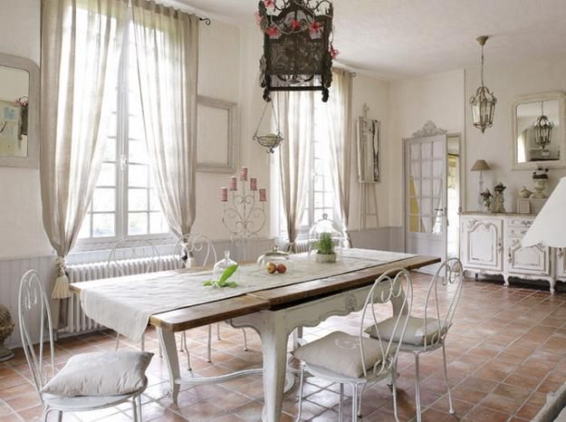 All White Rooms French Simple And Elegant Country Home Furniture For Dining