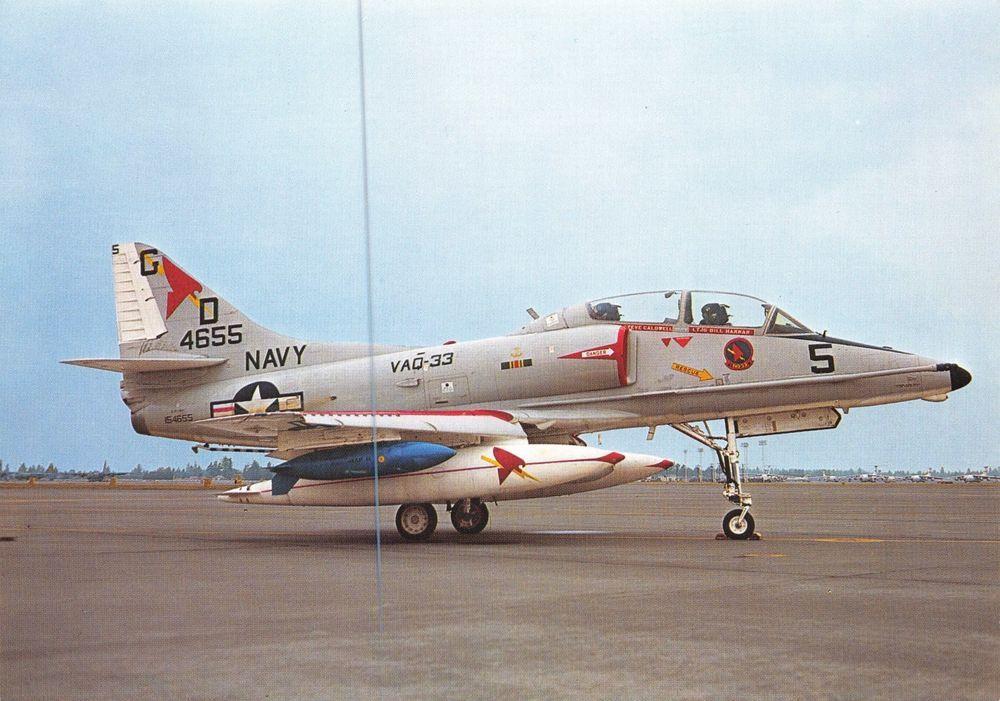 A 4 Skyhawk For Sale >> Retweet Postcard Postcard Us Navy Mcdonnell Douglas Ea 4f