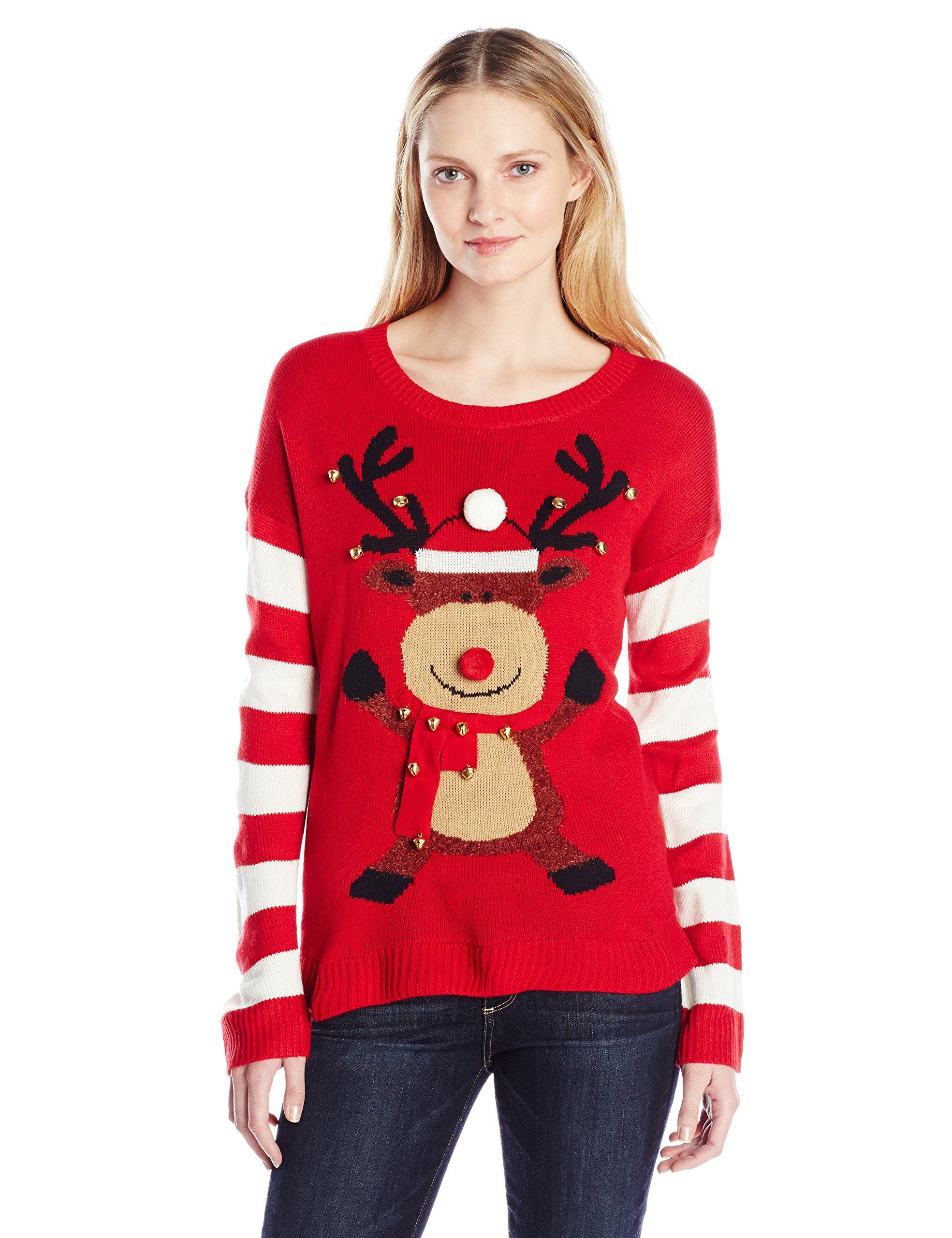 Amazoncom Blizzard Bay Womens Happy Rudolph Ugly Christmas