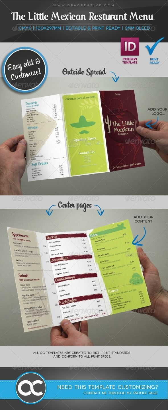 The Little Mexican Menu GraphicRiver This is another