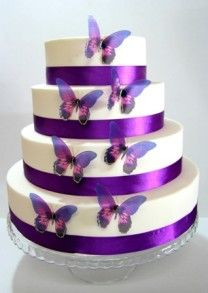 Wedding Cake Topper Violet Wedding Cake Toppers Butterfly