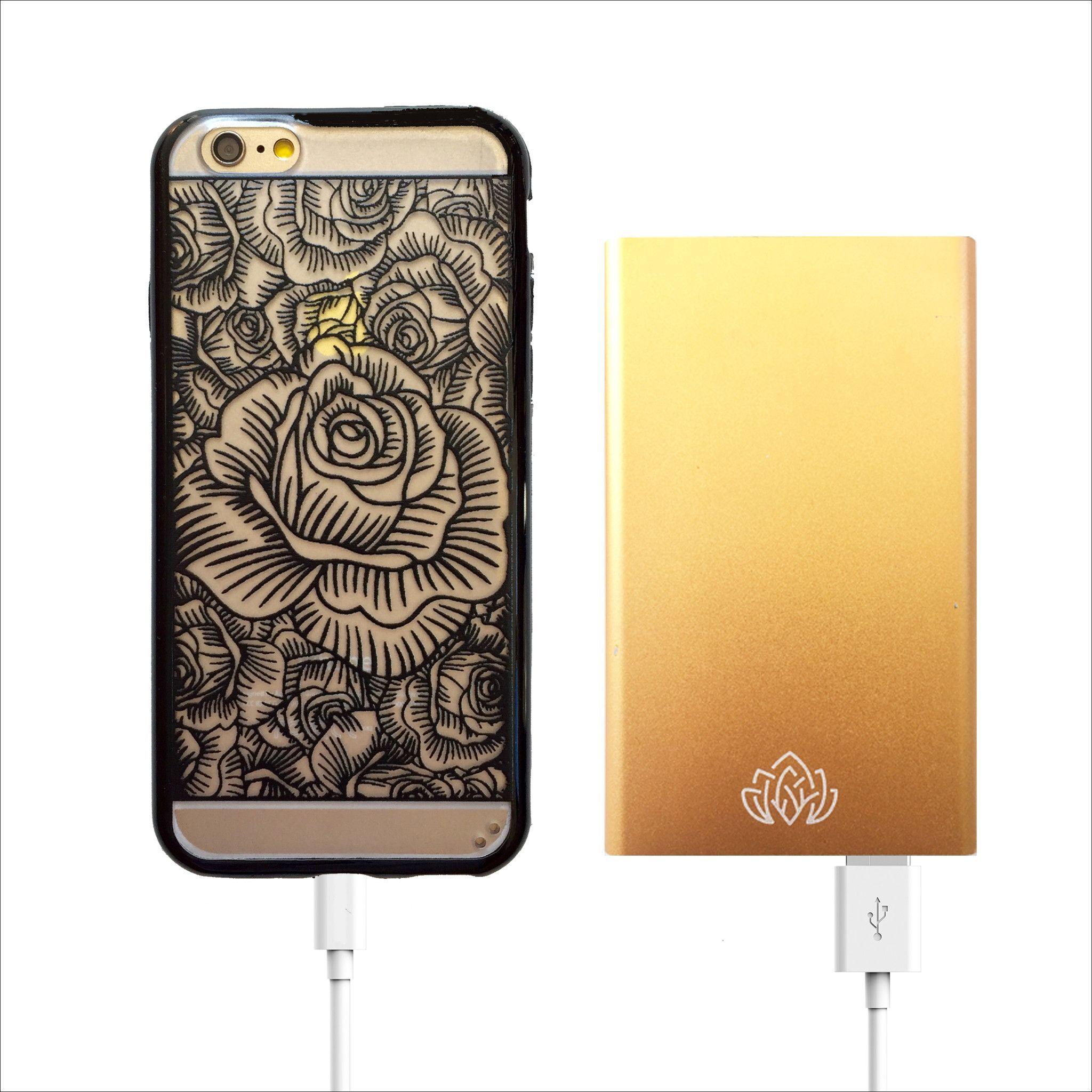 Gold Portable Power Bank Charger - 6000 mAh