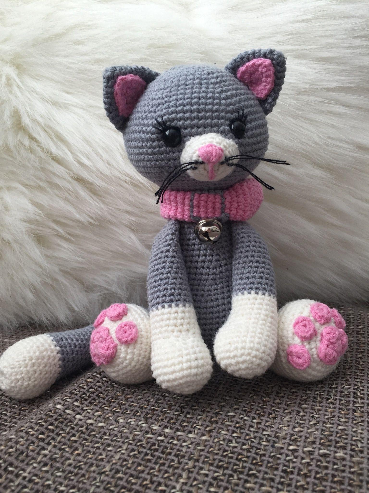 Crochet Haken Amigurumi Poesje Poes Kat Cat Haken
