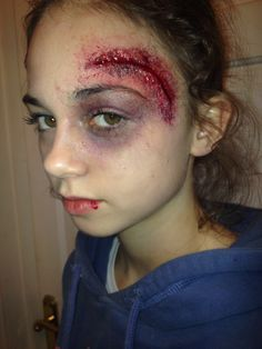 Zombie Hockey Player Makeup