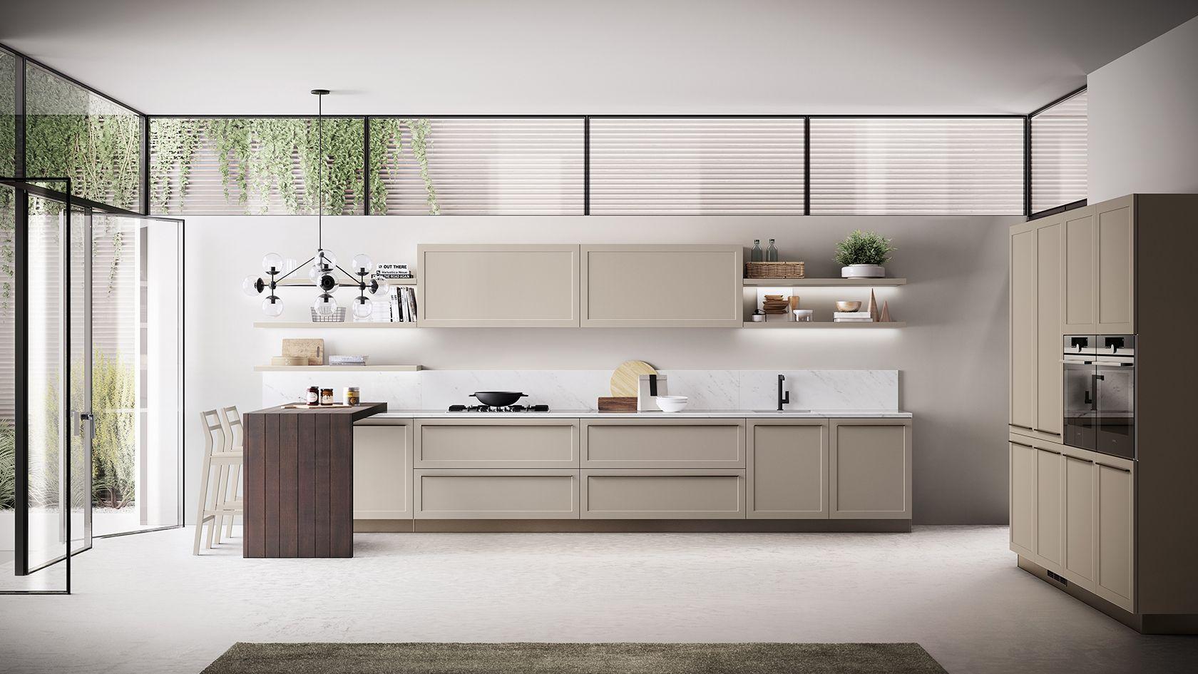 Küchenideen mit schwarzen schränken carattere  scavolini carattere  pinterest