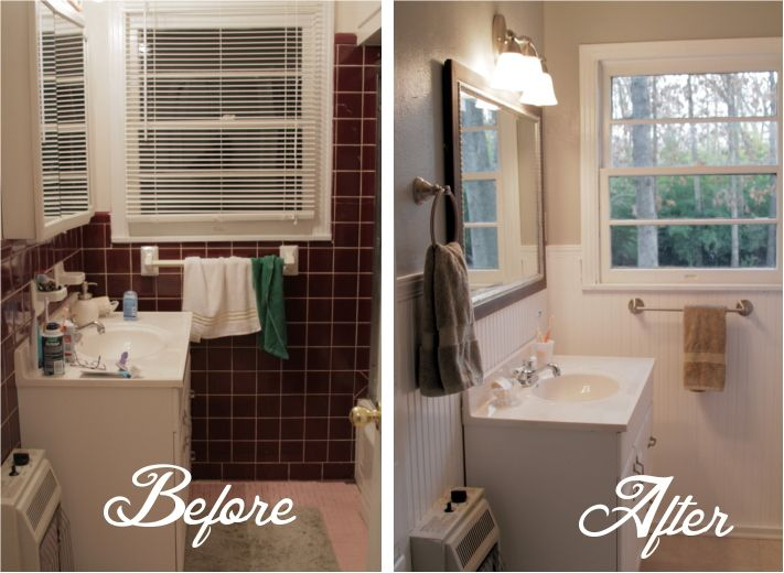 Small Bathroom Pictures Before And After 18 photos of the small bathroom makeover before and after - south