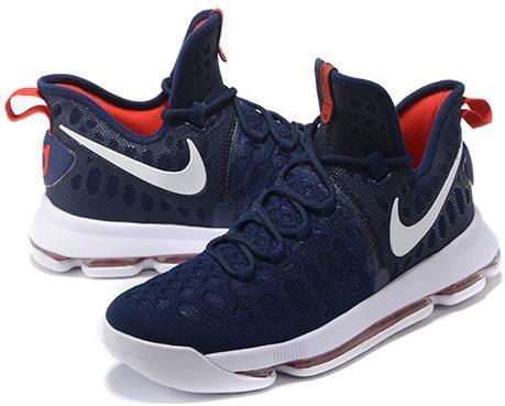 ... nike zoom kd 9 lmtd ep mens basketball shoes dark blue red2