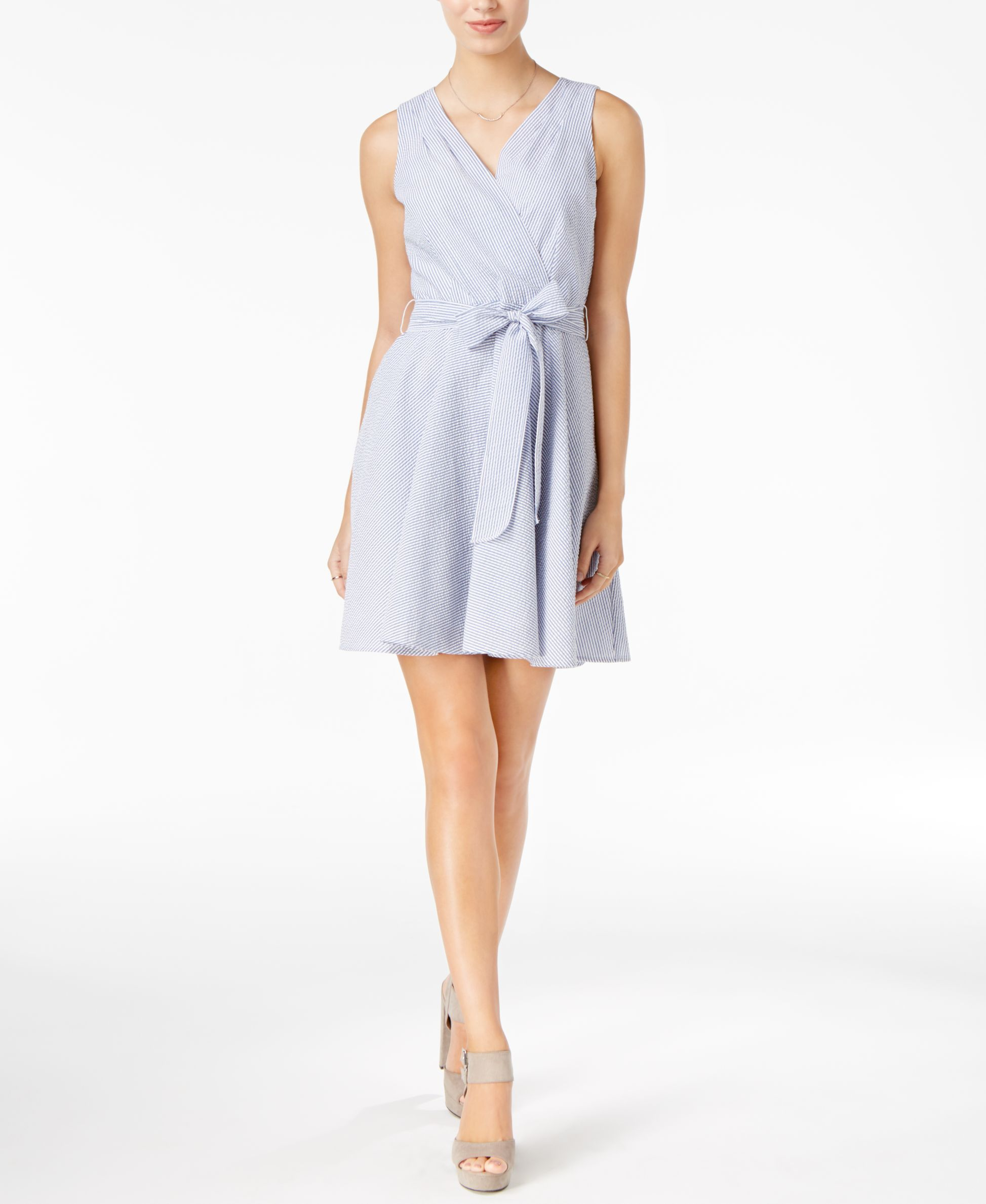 Maison Jules Fit & Flare Wrap Dress, Only at Macy's