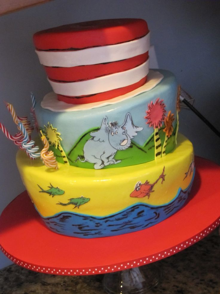 dr seuss edible cake decorations Topsy Turvy Dr Seuss birthday