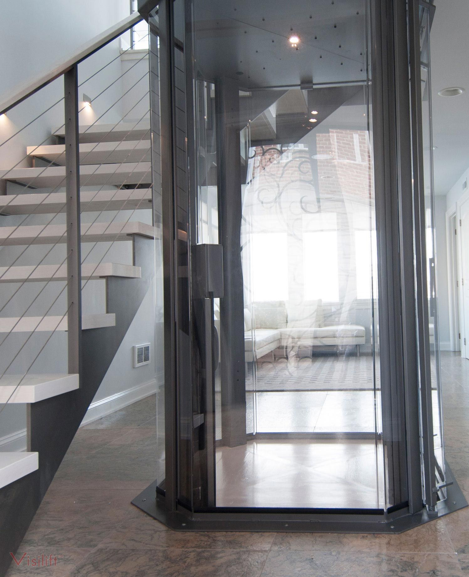 Glass Cable Elevator Octagonal Elevators Nationwide