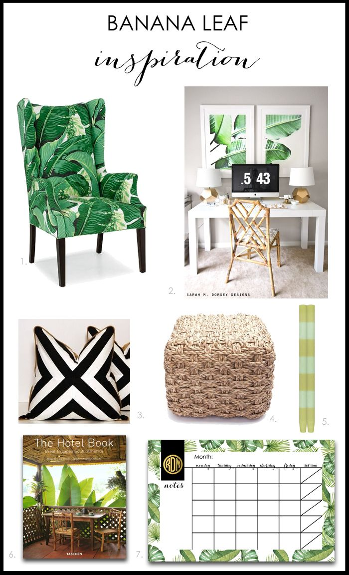 Banana Leaf Home Decor Ideas For A Modern Fresh Look Tropical Home Decor Tropical Interior Home Decor