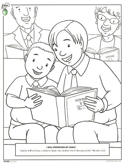 This blog has cute coloring pages for Dave\'s 4 yr old class. | LDS ...