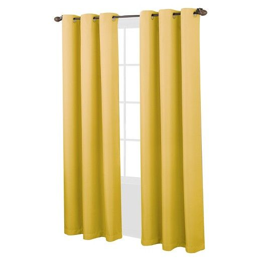 Montego Casual Textured Grommet Curtain Panel Yellow 48 X63 No 918 Panel Curtains Grommet Curtains Curtains