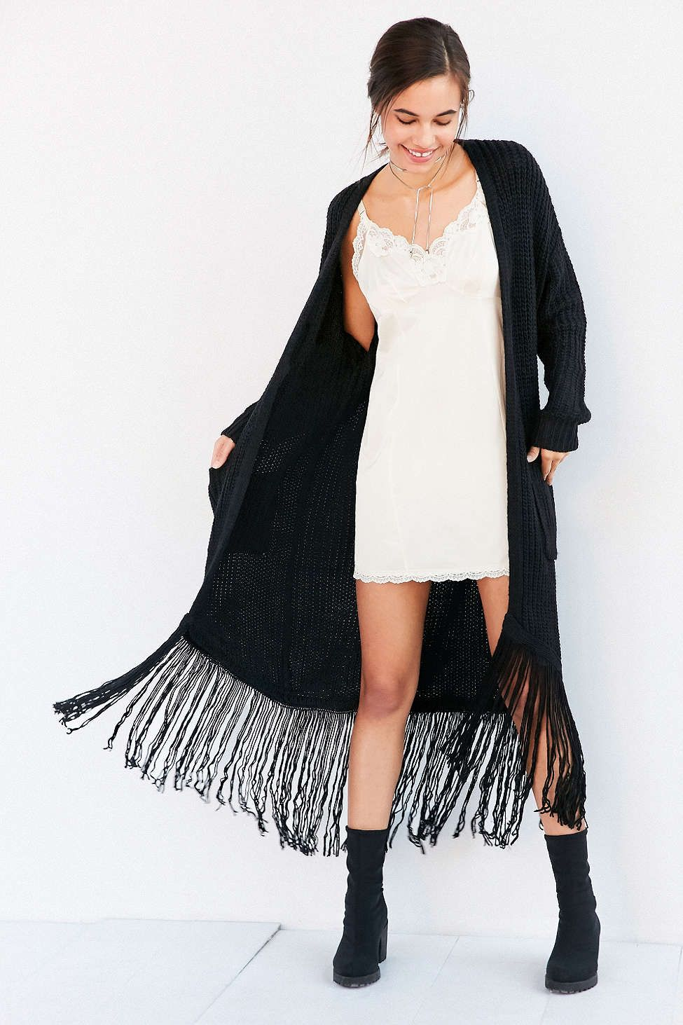 ASTR Frances Fringe Duster Cardigan | Dusters, Urban outfitters ...
