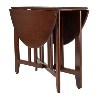Alamo 42 Double Drop Leaf Table Wood Walnut Brown Winsome