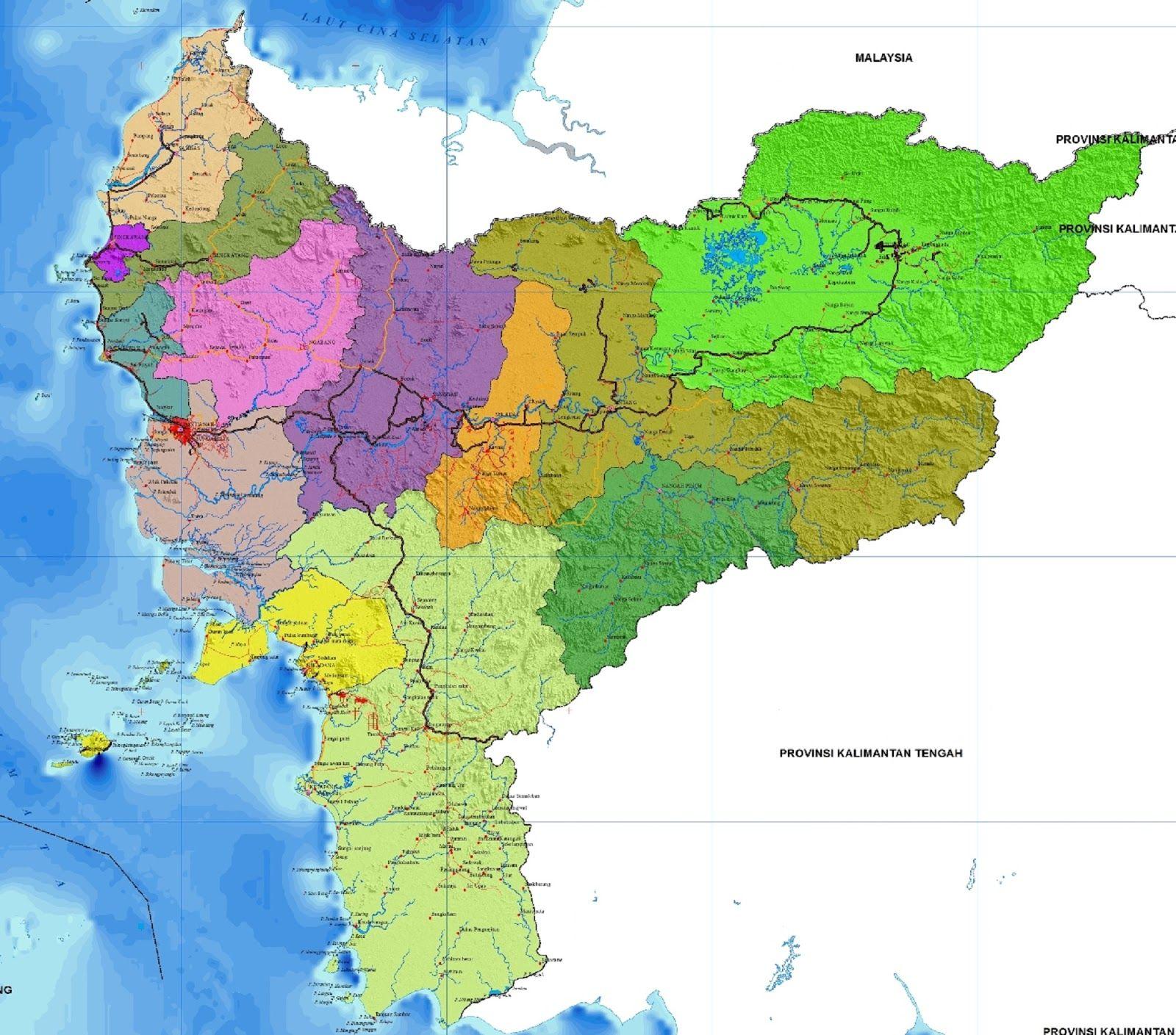 peta kalimantan barat hd lengkap dan keterangannya peta kalimantan gambar peta kalimantan barat hd lengkap dan