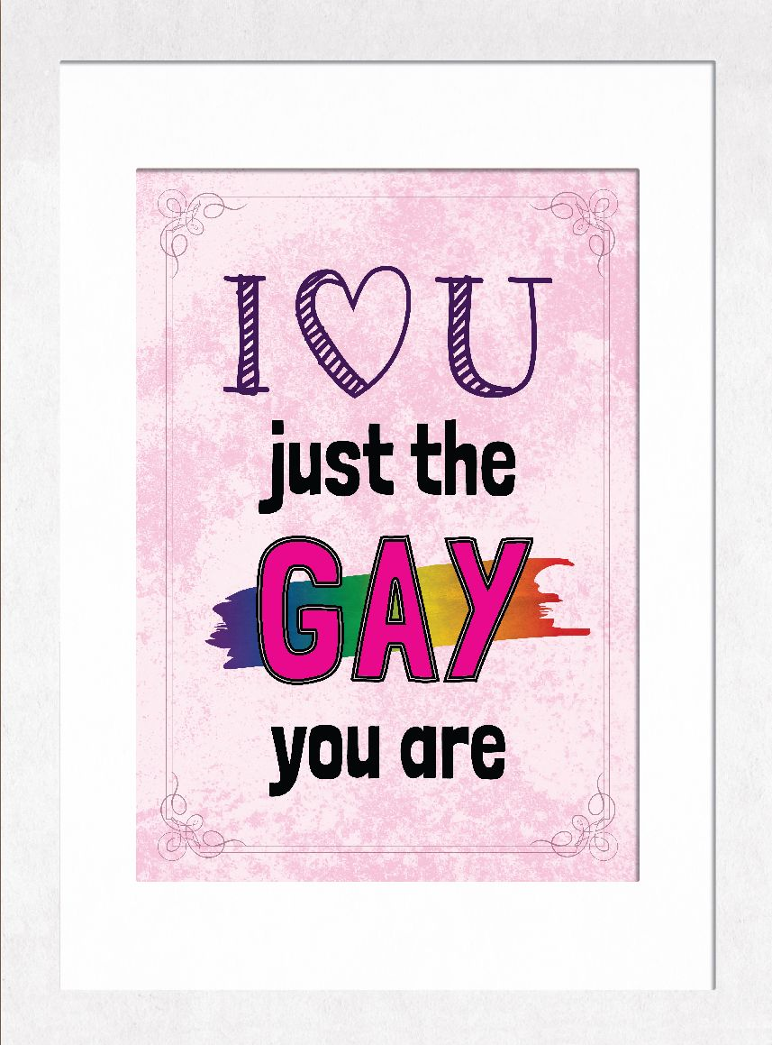 Gay Pride Couples Love Gift