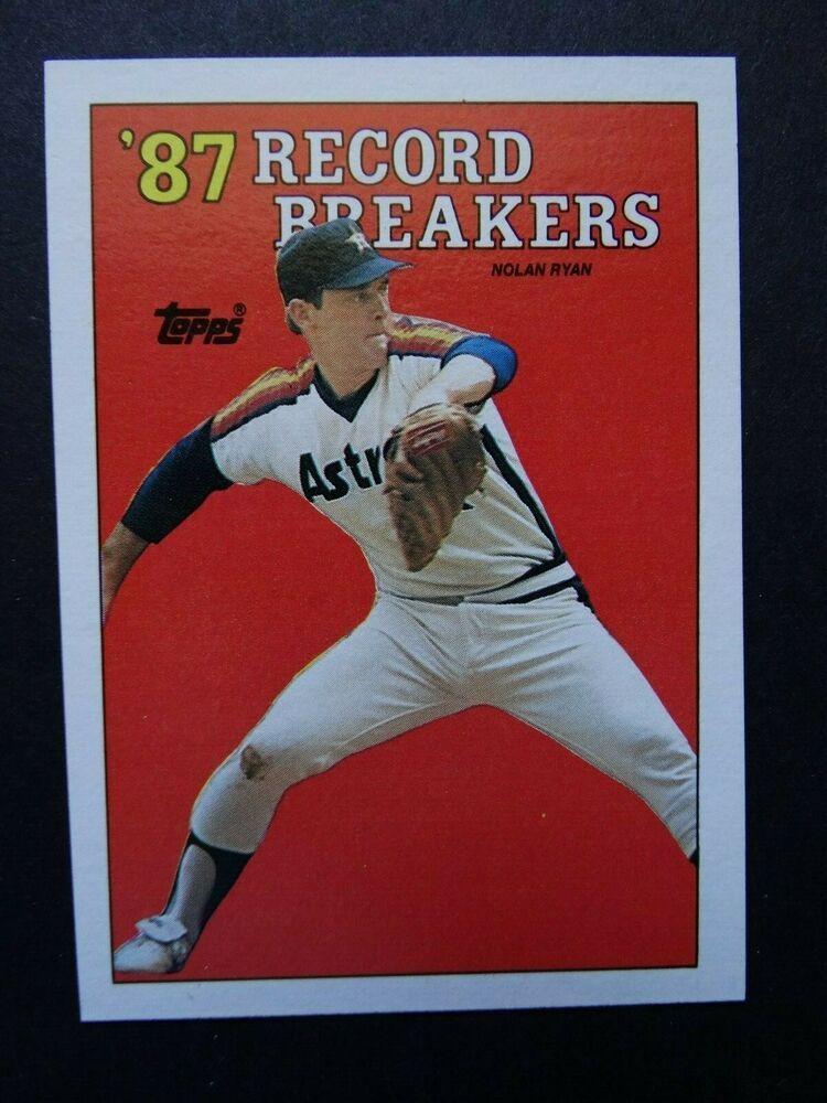 1988 topps 10 nolan ryan record breaker houston astros