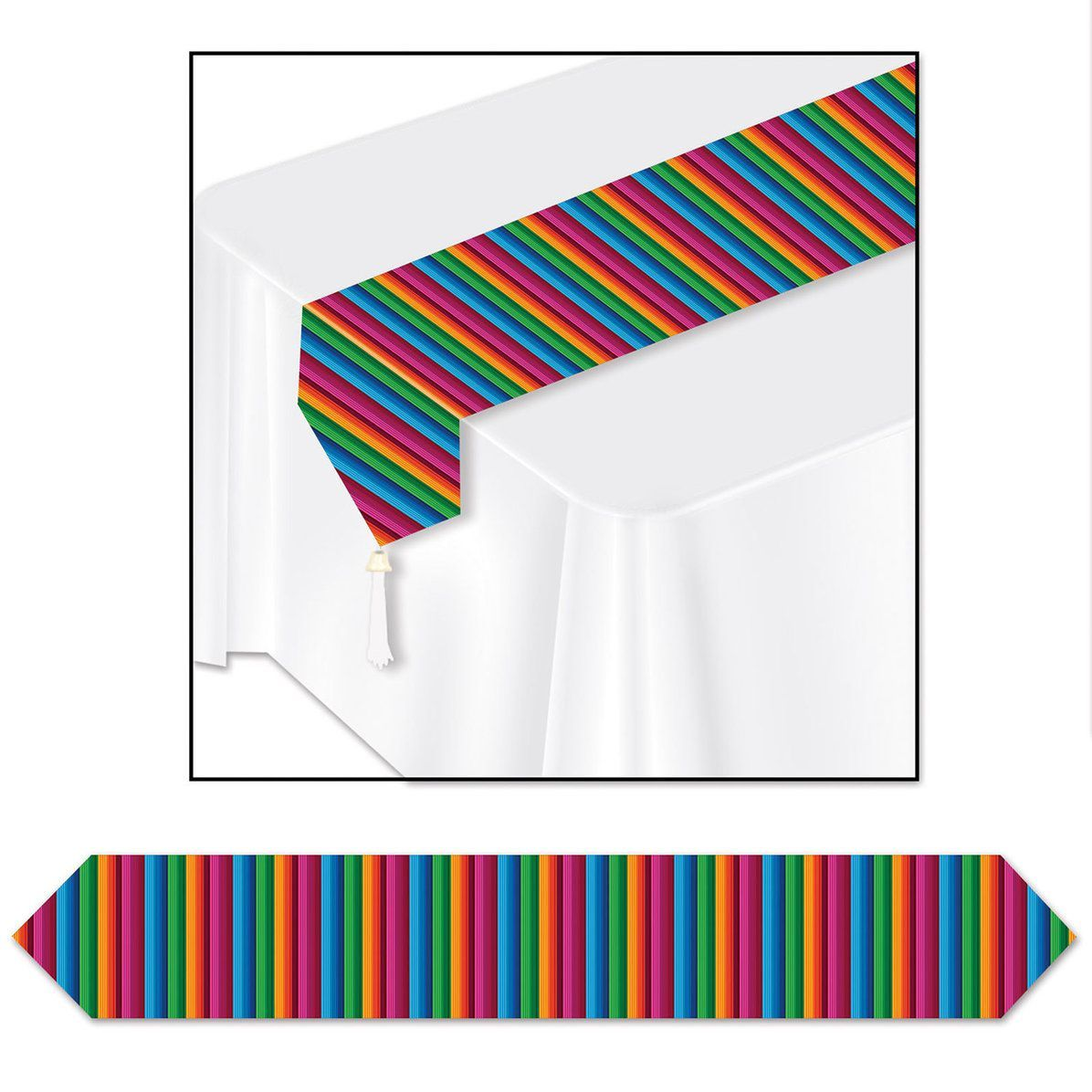 Fiesta Printed Table Runner Printed Table Runner Paper Table Runner Fiesta Table